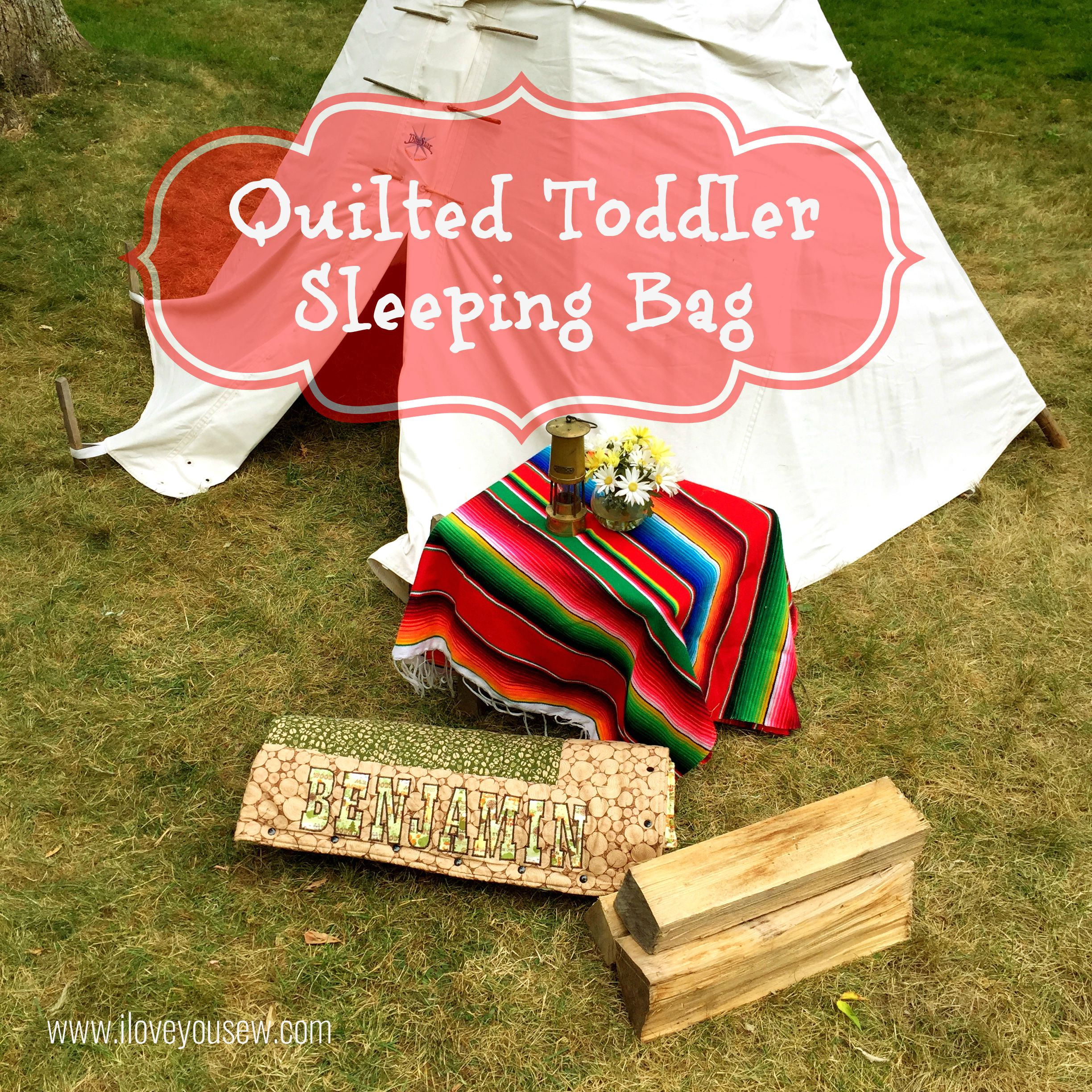 Quilted Toddler Sleeping Bag