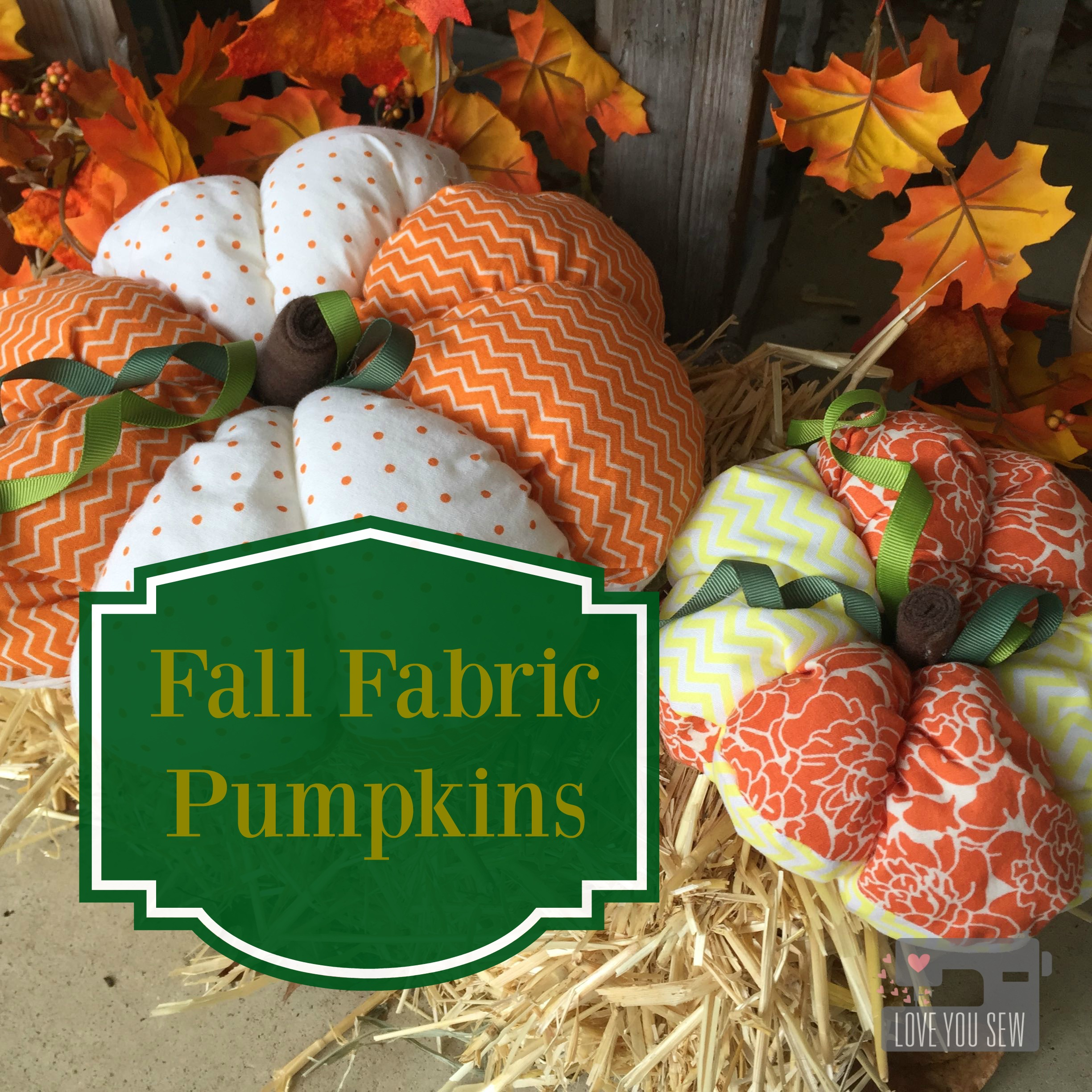 Fall Fabric Pumpkin Decor