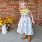 Toddler Side Snap Infinity Scarf Tutorial