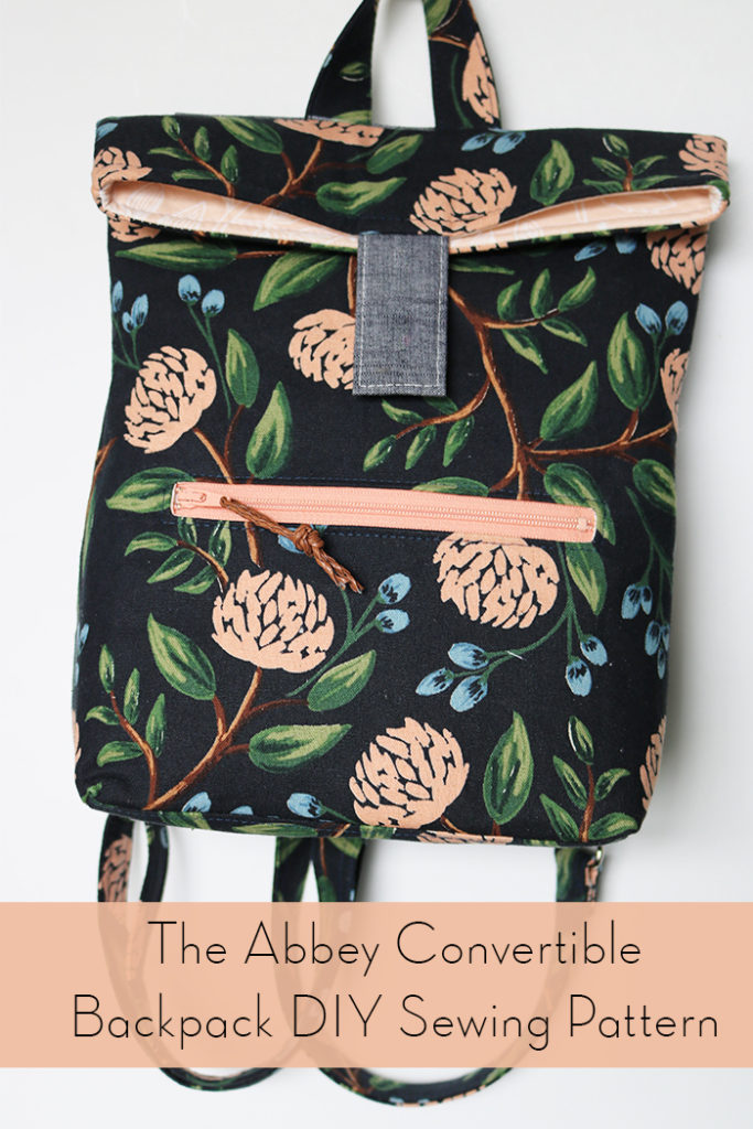 Abbey Convertible Backpack Diy Sewing Pattern Love You Sew